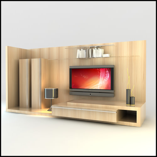 Tv wall unit modern design x 12 3d models for Interior wall units designs