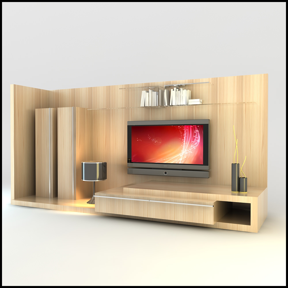 Tv wall unit modern design x 12 3d models - Modern tv wall unit ...