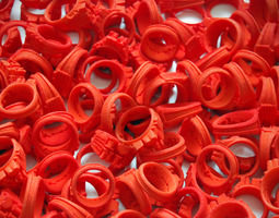 I Love Holland Rings 4xD20 40xD18 44xD16 3D Model