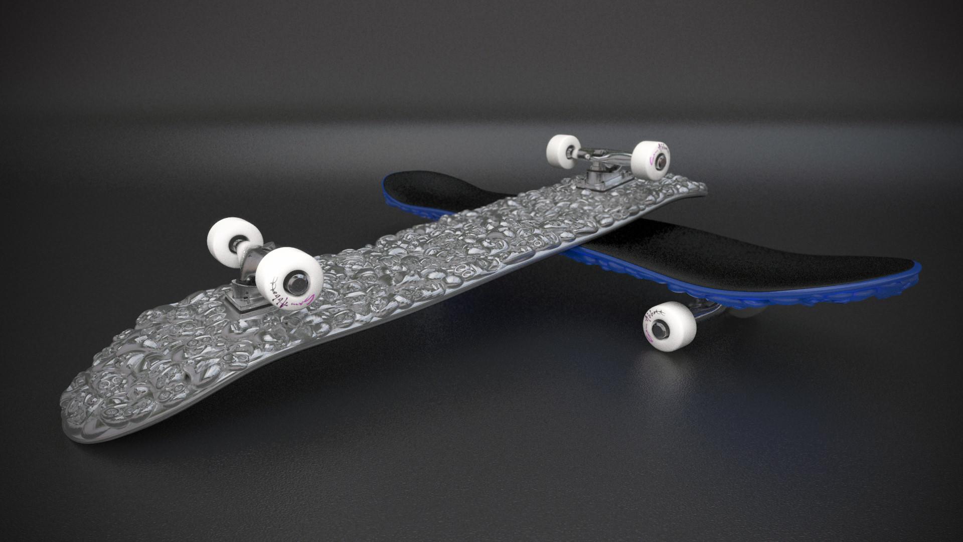 Skateboard Deck 3D Model 3D printable STL | CGTrader.com