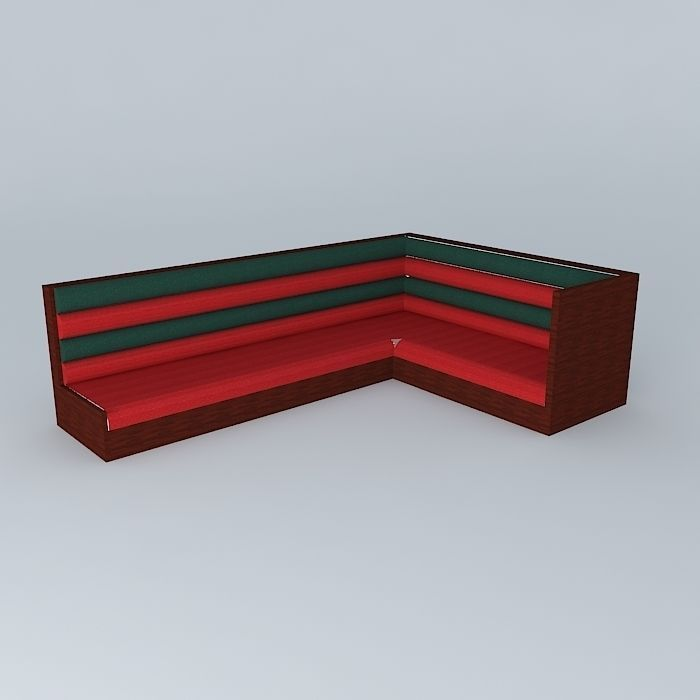 booth seat 3ds max