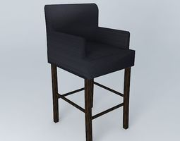 Cover gray for bar chair LOUNGE 3D