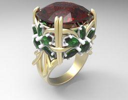 3D print model Flowers big ring