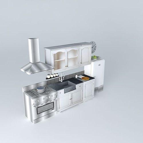 Kitchen Set Sketchup: Kitchen St Remy Maisons Du Monde 3D