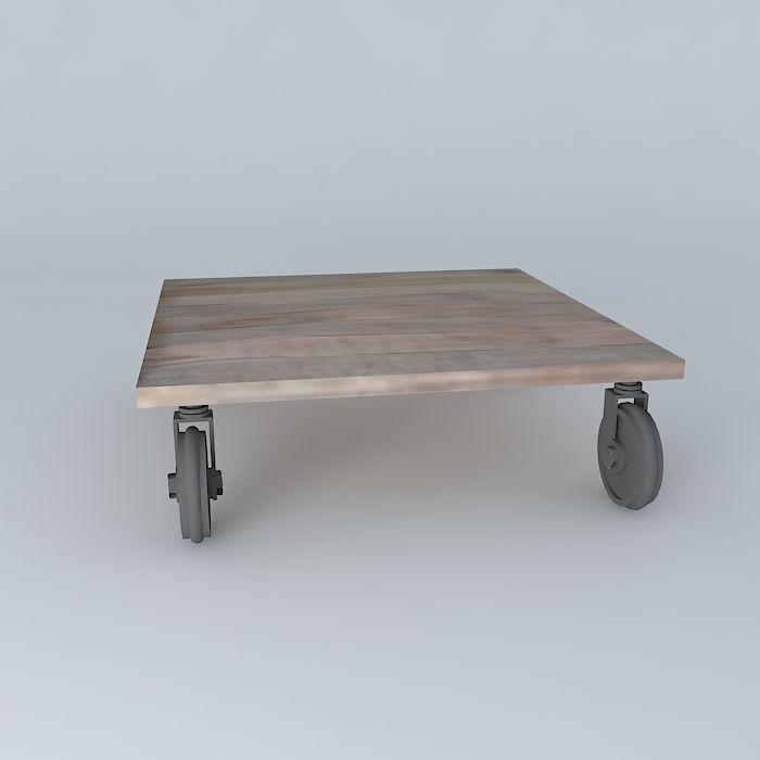 ... Coffee Table Loft Maisons Du Monde 3d Model Max Obj 3ds Fbx Stl Dae 3  ...