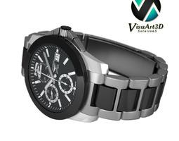 Watch Longines Conquest chronograph 3D Model