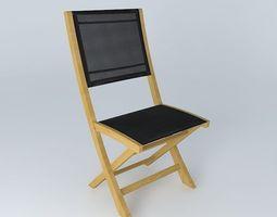 3D model Black chair CAPRI houses the world