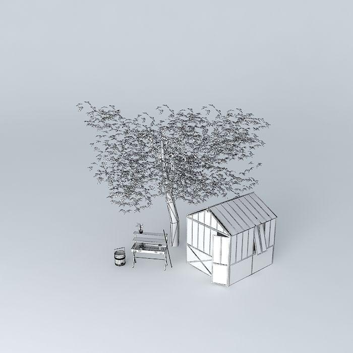 Garden maisons du monde 3d model max obj 3ds fbx stl dae - Serre maison du monde ...