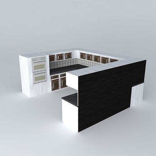 Kitchen Cabinet Design Freeware: 3D Model Kitchen Cabinets Interior Design