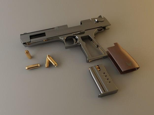 Pistol desert eagle 357 magnum 3d model
