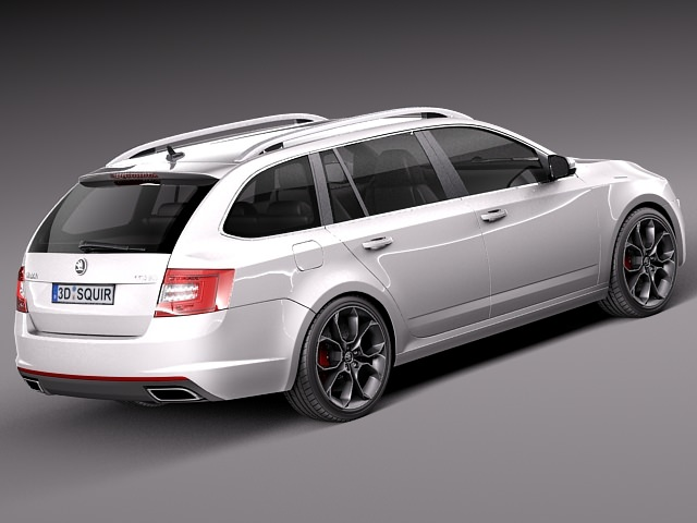 skoda octavia rs combi 2014 3d model max obj 3ds fbx c4d lwo lw lws. Black Bedroom Furniture Sets. Home Design Ideas
