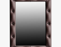 Leather Mirror Small 3D Model