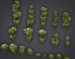 Rock Formation Pack 2 3D asset