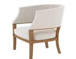 3D Holly Hunt SOUTH BEACH CHAIR