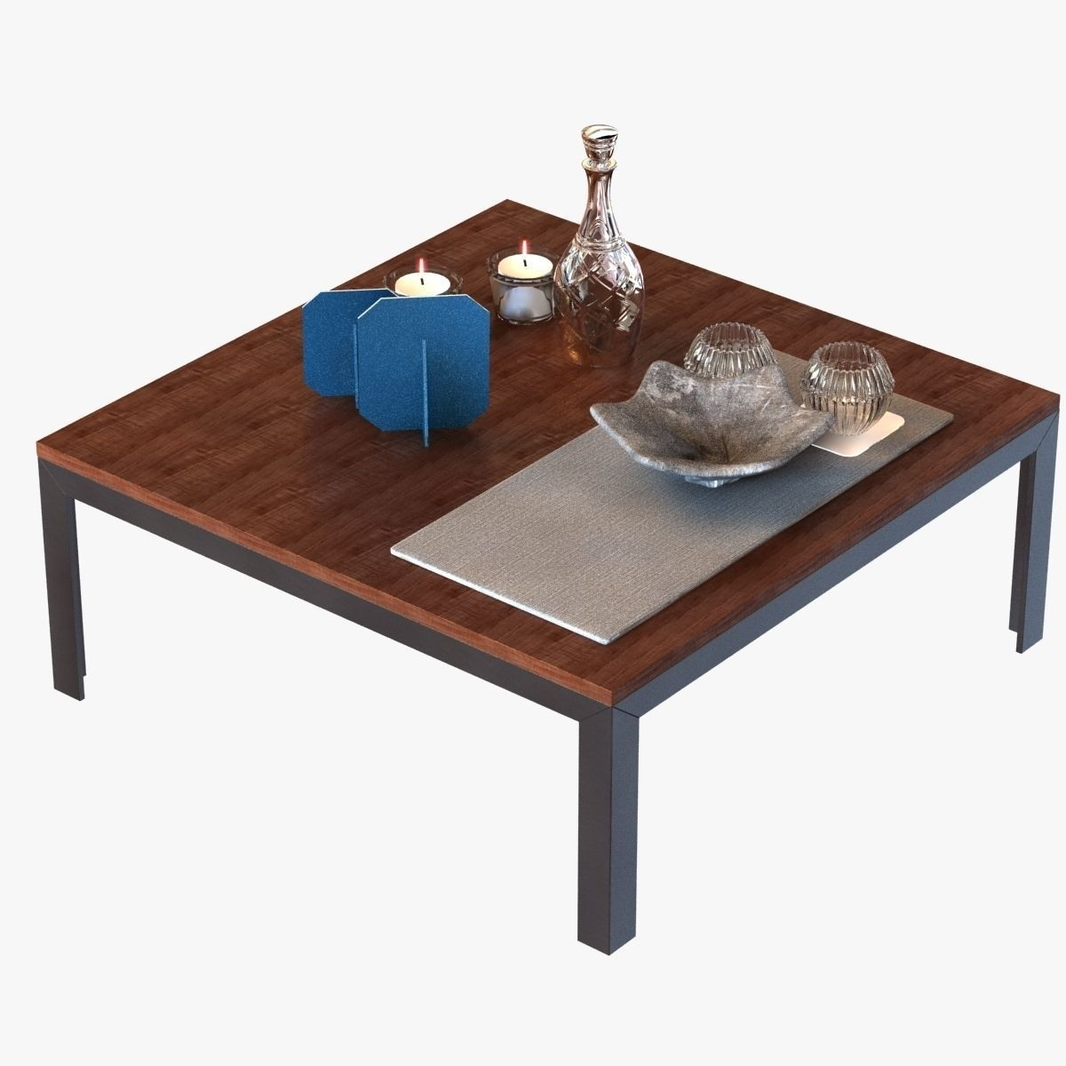 Coffee table with decor 3d model max obj 3ds fbx for Coffee table 3d model