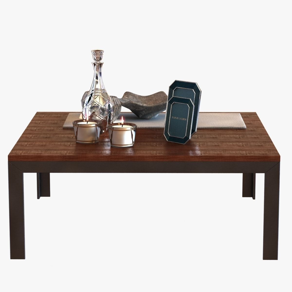 Coffee Table With Decor 3d Model Max Obj 3ds Fbx