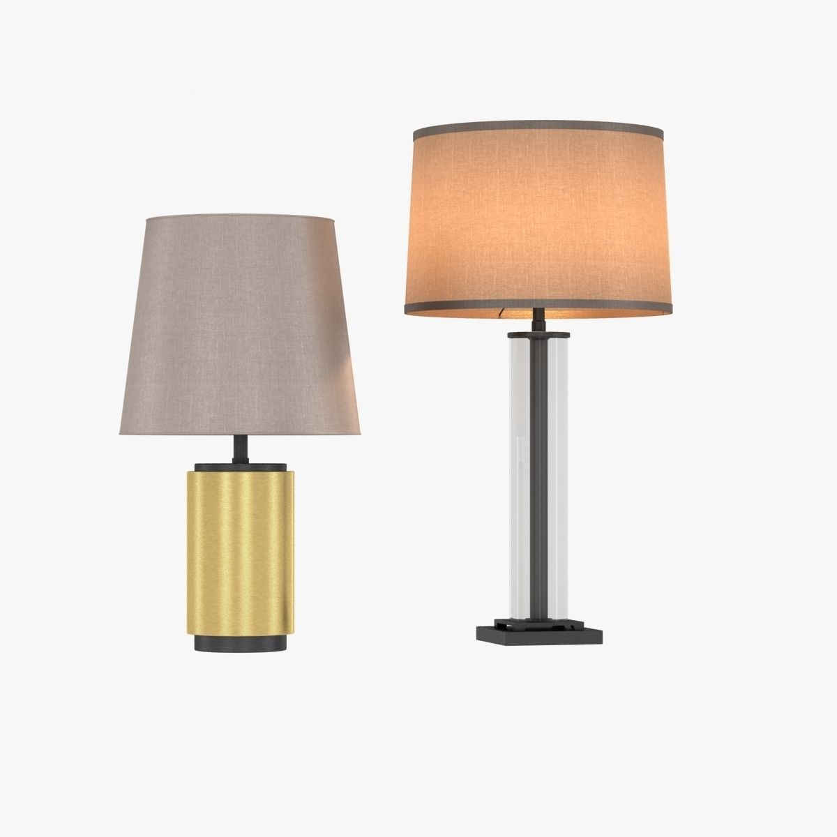 Restoration Hardware French Column Glass Table Lamp 3d Model Max