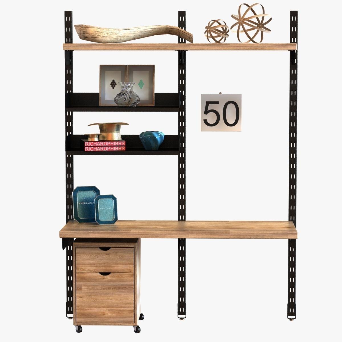 Design Workshop Modular Wall Storage System 3d Model Max