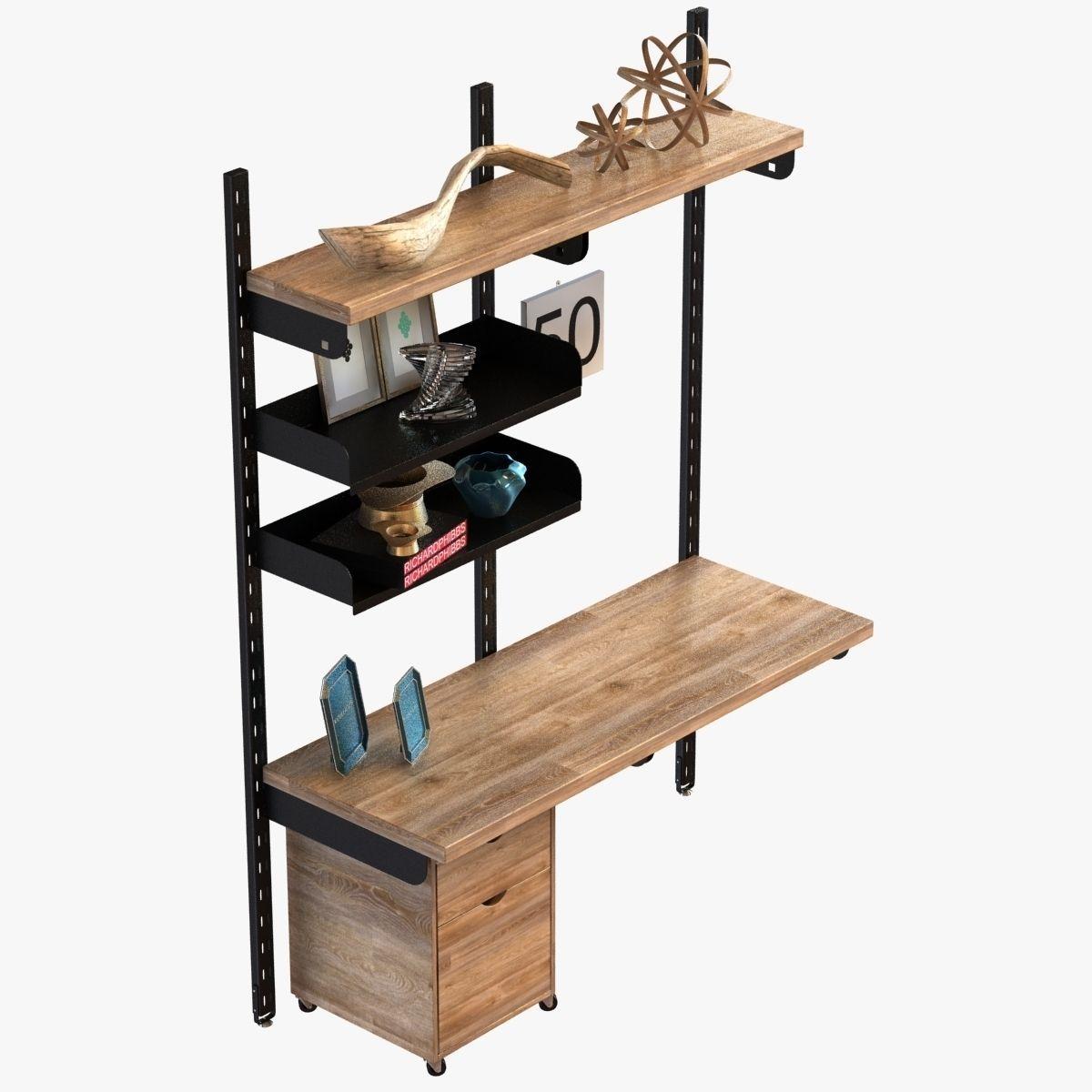 Design workshop modular wall storage system 3d model max for Chair design workshop
