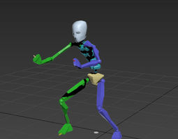 3D model goalkeeper celebrate 8in1