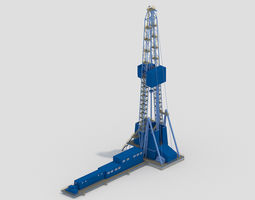 3D model Oil tower