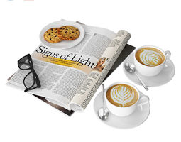 3D model Coffee and magazine