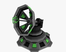Sci-fi Communication Antenna Low-poly 3D model
