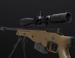AWM AWP Sniper Rifle 3D model game-ready