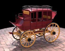 Horse Drawn Carriage 3D