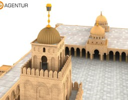 Great Mosque of Kairouan Tunisia 3D Model