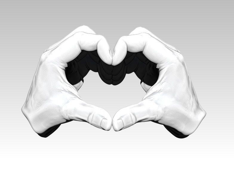 Peace Love Hand gesture sing