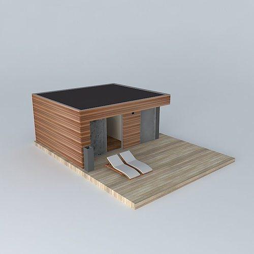 Small Modern Home Exteriors: 3D Modern Small Home Exterior