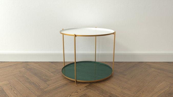 design side table thessa 3d model low-poly obj mtl 3ds fbx c4d dxf stl 1