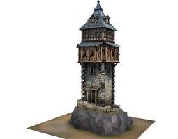 3d asset medieval building 07 defence tower realtime