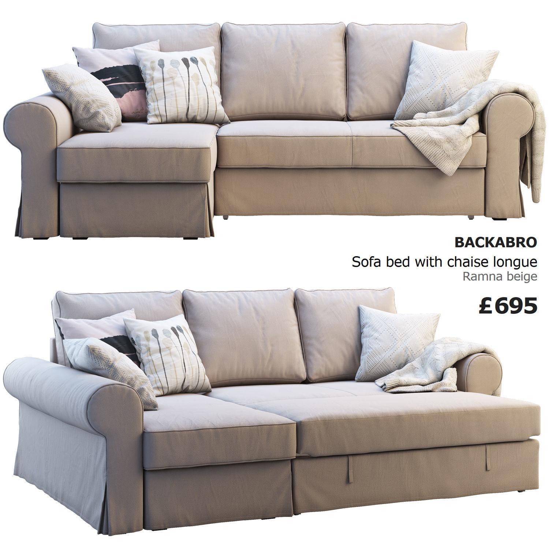 Surprising Ikea Backabro 2 Sofas 3D Model Uwap Interior Chair Design Uwaporg