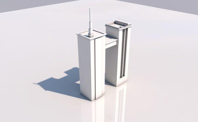 skyscraper 3d model low-poly obj mtl 3ds fbx c4d dae 1