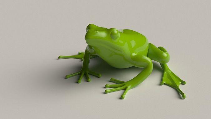frog basemesh 5k tris 3d model low-poly obj mtl fbx blend hda hip bgeo geo bclip clip hipnc 1