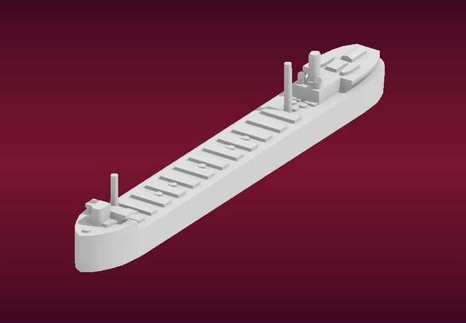 the great lakes freighter 3d model obj mtl stl ply 1