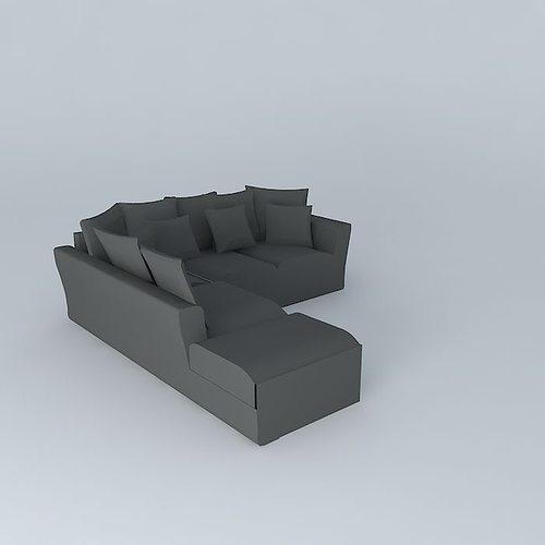 3D model 5 seat sofa BALTAZHAR houses the world   CGTrader