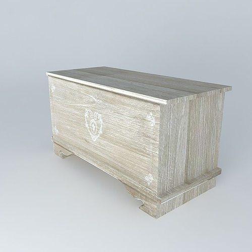 safe camille maisons du monde 3d model max obj 3ds fbx stl dae. Black Bedroom Furniture Sets. Home Design Ideas