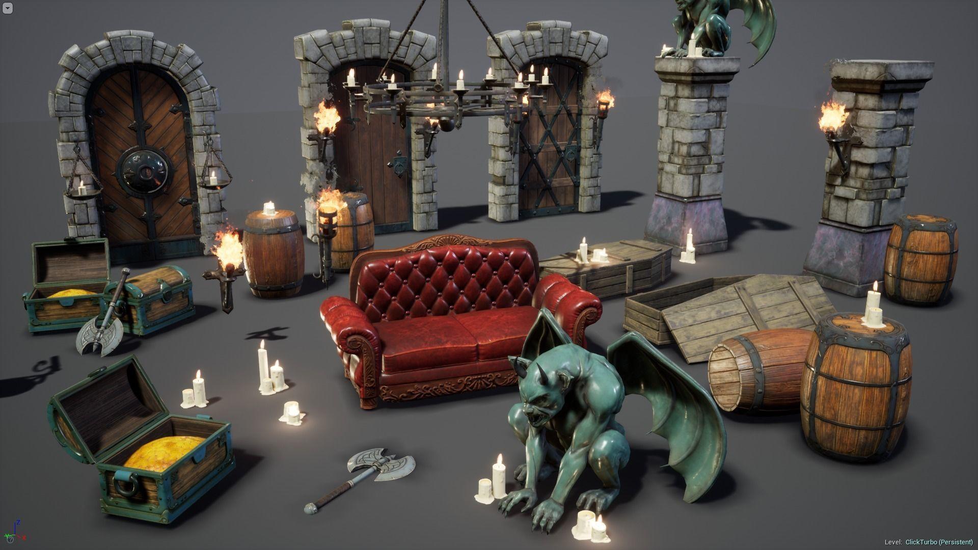 Fantasy Props Interior Pack