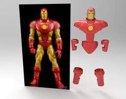 3D printable model Iron Man classic vintage wearable armor