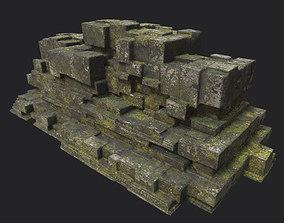 Low poly Ruin Temple Block 09 181116 3D model