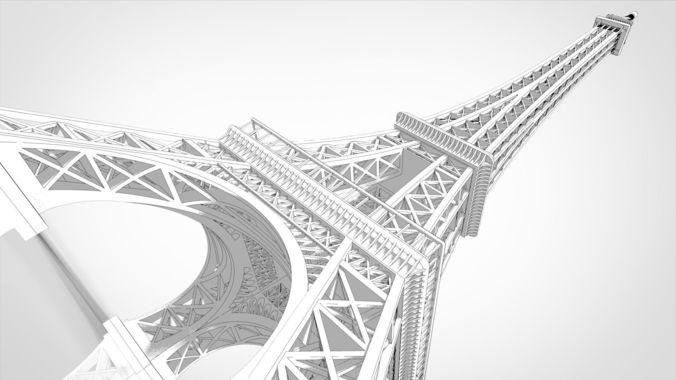 eiffel tower miniature 3d model sldprt sldasm slddrw 1