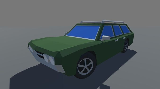 Muscle Car Station Wagon Mobile Ready 3d Model Cgtrader
