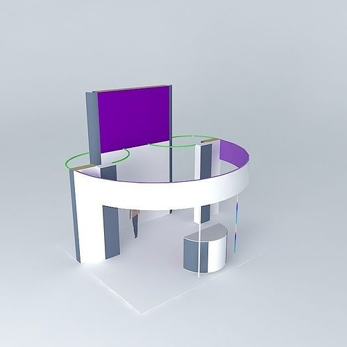 Exhibition Stand Sketchup : The exhibition stand of sqm d cgtrader