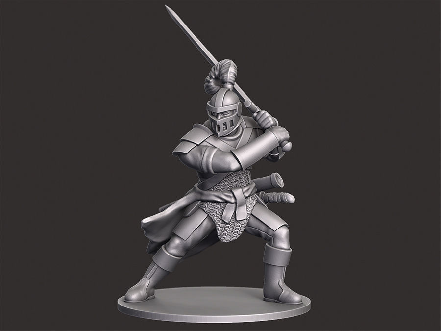 Human Knight Miniature