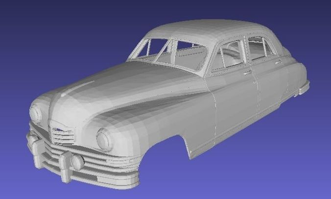 packard 1948 body car printable 3d 3d model max stl 1