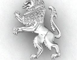 3D print model LION HERALDIC