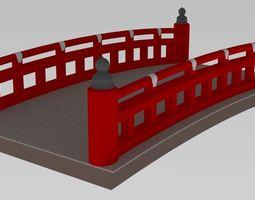 3D model Japanese Bridge old